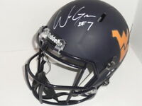 WILL GRIER SIGNED WEST VIRGINIA MOUNTAINEERS FULL SIZE MATTE NAVY HELMET JSA COA