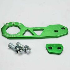 RDT BRAND BILLET ALUMINUM RACING REAR TOW HOOK KIT CNC JDM GREEN COLOR
