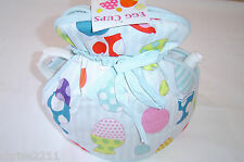 Muff / Open Top Tea Cosy British Made  Blue with Egg Cups  Great Fun