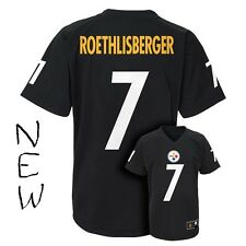 Pittsburgh Steelers NFL #7 Roethlisberger (Black) Jersey Size Youth Lg New
