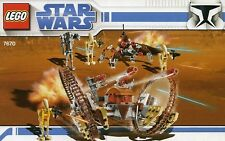 LEGO STAR WARS HAILFIRE & SPIDER DROID #7670 4 FIGURES 100% COMPLETE GUARANTEE