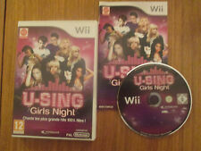 U-Sing : Girls Night ~~ Jeu WII Complet