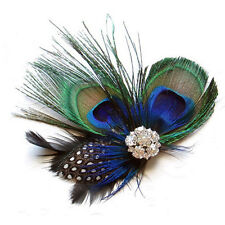 Baby Hair Clips Peacock Feather Hair Clip Pin f Girls Brides Bridesmaids WT