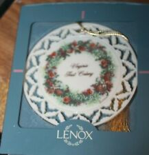 "Lenox Colonial Series 1997 Wreath Ornament ""Virginia First Colony"" in box"