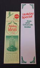 2 Vintage Coca Cola Carton Stuffers #9