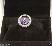"AUTHENTIC PANDORA""Radiant Hearts, Royal Purple Crystal,Clear CZ, 791725nrp #159"