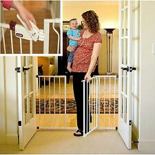 Tall dog Baby Gate Safety Fence Child Door Extra Wide Walk Through Child Toddler