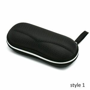 Portable Sunglasses Protector Pack Pouch Glasses Case Black Zipper Box Hard