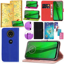Para Motorola Moto G7// Alimentación/Moto E5 Plus/G6 jugar PU Cuero Billetera Abatible Estuche