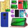 For Motorola Moto G7 Power G8 Plus E5 G6 Play PU Leather Wallet Flip Case Cover