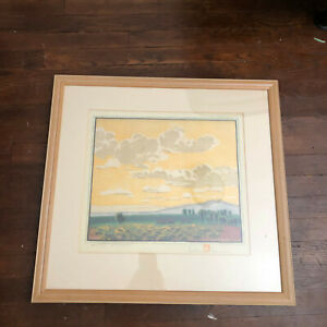 White Desert Art Limited Print 6/126 Gustave Baumann Color Woodcut 1930