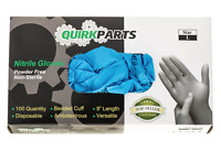 NEW ONE BOX Of 100 Blue Nitrile Powder Free Disposable Non-Sterile Large Gloves