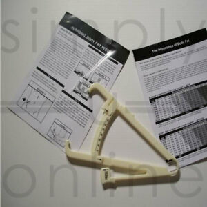 BRAND NEW BODY FAT CALIPERS TESTER COMPLETE WITH INSTRUCTIONS MANUAL & CHARTS