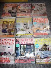 Schöner Wohnen Häuser 2016 Zeitschriften  2015 Sammlung Konvolut 9 X Hausbau