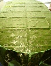 Nappe Rectangle Satin Chinois-Chinese Tablecloth-Vert-Green-Fu Lu Shou-295*143