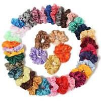 40pcs Velvet Hair Scrunchies Hair Ties Elastic Hair Bands Ropes for Women Girl
