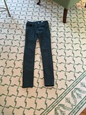 Rag And Bone Jean Forrest Green Cotton Skinny Leg Jeans Size 24