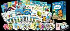 English for Kids Premium set, English learning DVDs, Books, Posters, Flashcards