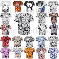 Hot New Ahegao Anime 3D Print Casual Tshirt Fashion Women Men Short Sleeve Tops