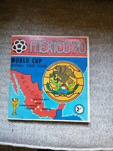 Panini Mexico 70 (1970) World Cup Sticker Album Originalx 214 cards and stickers