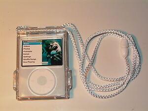 iPod Video Nano 3rd Generation 4GB 8GB Clear Cyrstal Case belt clip & Lanyard