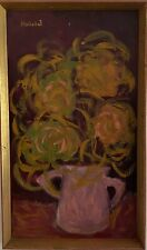 Halicka Oil On Canvas Authentic Painting and Signed 72X42cm