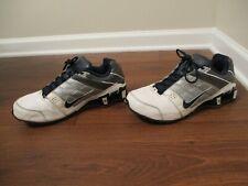 Used Worn Size 11 Nike Shox O'Nine Shoes White Navy Gray Silver