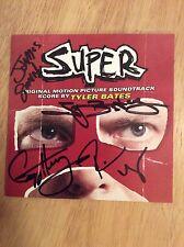 SIGNED x8 Super Soundtrack CD James Gunn Tyler Bates Henry Rooker Tsar + Pics