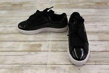 Puma Basket Heart Casual Sneaker- Big Girl's Size 4.5, Black