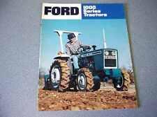 Ford 1100, 1300, 1500, 1700, 1900 Farm Tractor Brochure                       lw