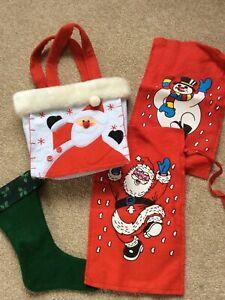 Selection Of Felt Christmas Bags/ Stocking