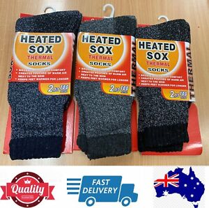 3 Pairs Men's Heated Sox Warm Comfy Thermal Socks Special, AU Stock
