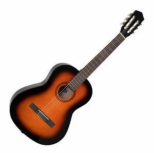 Tolle 7/8 Konzertgitarre für Kinder und Jugendliche in wunderschönem Sunburst
