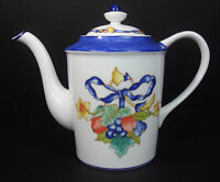 Bernardaud Borghese Porcelain Teapot Royal Cobalt Blue Limoges France