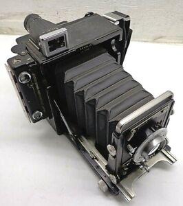 Graflex Century Graphic Camera Kalart Synchronized Rangefinder 103mm f/4.5 LENS