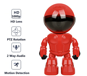 Robot IP Security Camera CCTV Camera 360° WIFI Wireless 2MP Baby Protect Monitor