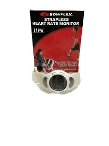 Bowflex Strapless Heart Rate Monitor EZ Pro White New Water Resistant Backlight