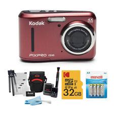 Kodak PIXPRO FZ43 Friendly Zoom Digital Camera Red Bundle