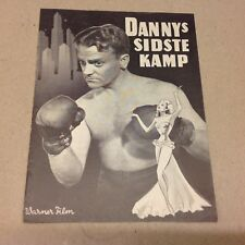 """City for Conquest"" James Cagney Ann Sheridan 1940 Danish Original Movie Program"