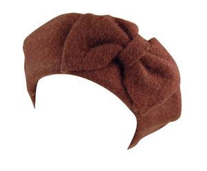 Classic Wool Fashion Beret w Bow - Warm for Church, Dress, Party - Hey Viv Retro