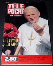 TELE POCHE #746 28/05 1980 PAPE JEAN PAUL II  SIDE CAR CYCLISME MARQUIS DE SADE
