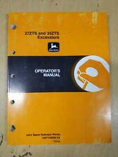 John Deere 27zts And 35zts Excavators Operators Manual
