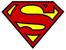 24 water slide nail art transfer decals Super Man logo trending  3/8 inch