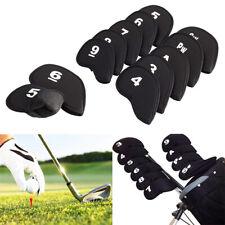 10Pcs Neoprene Golf Headcover Protector Set For All Sizes Iron Golf Club Head UK