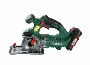 Parkside 20V Cordless Circular Plunge Saw with 1x 2Ah Li-ion Battery And charger