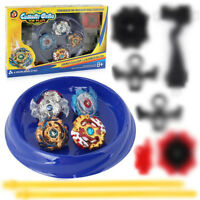 2018 4pcs Fusion Metal Beyblade XD168-6 Burst Set Original Box Spinning Top