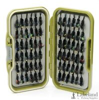 Waterproof Fly Box + Assorted Mixed Montanas Nymph Trout Flies for Fly Fishing