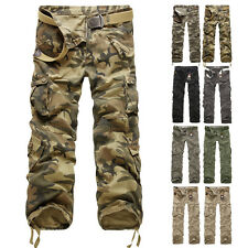 NEW Men's Cotton Combat Military Camouflage Cargo Army Camo Pants Trousers