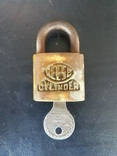 VINTAGE REESE CYLINDER LOCK MADE IN USA PADLOCK with ORIGINAL KEY