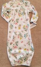 ADORABLE! NEW!! CARTER'S ONE SIZE BUTTERFLY GARDEN SLEEP GOWN REBORN